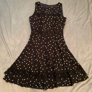 WHBM Black White Polka Dot Dress EUC Size 4